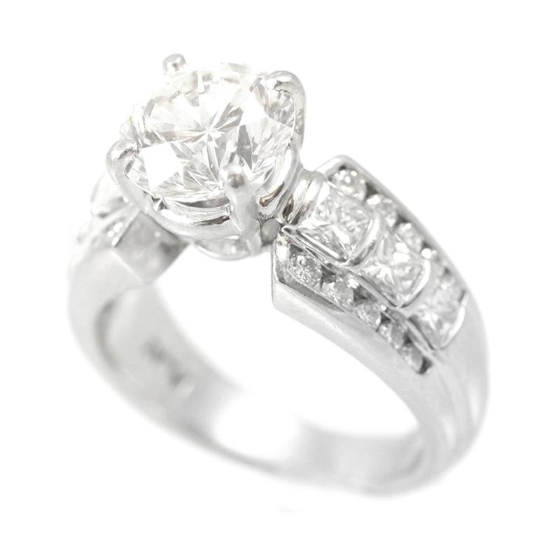 Estate Platinum diamond ring.