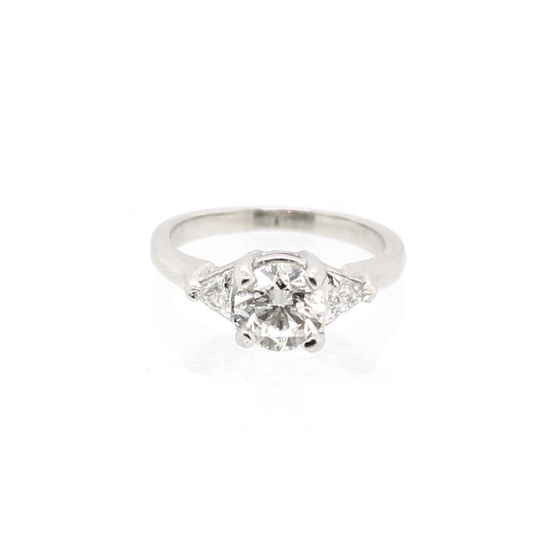 Estate Platinum and Diamond Bridal Ring