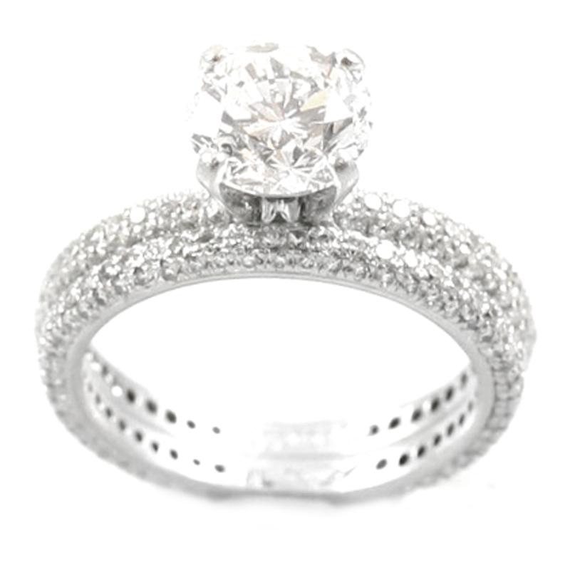 Vintage Platinum EGL Certified Diamond Bridal Set