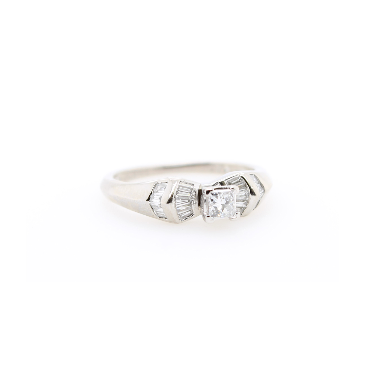 Vintage Platinum Diamond Bridal Ring
