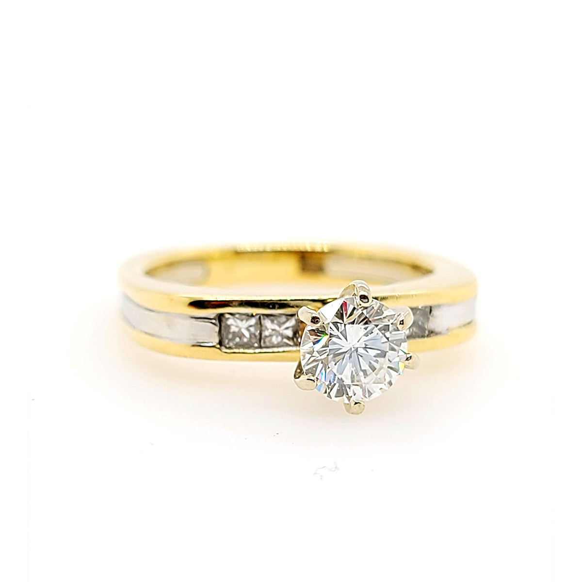 Vintage 14 Karat Yellow Gold Diamond Engagement Ring