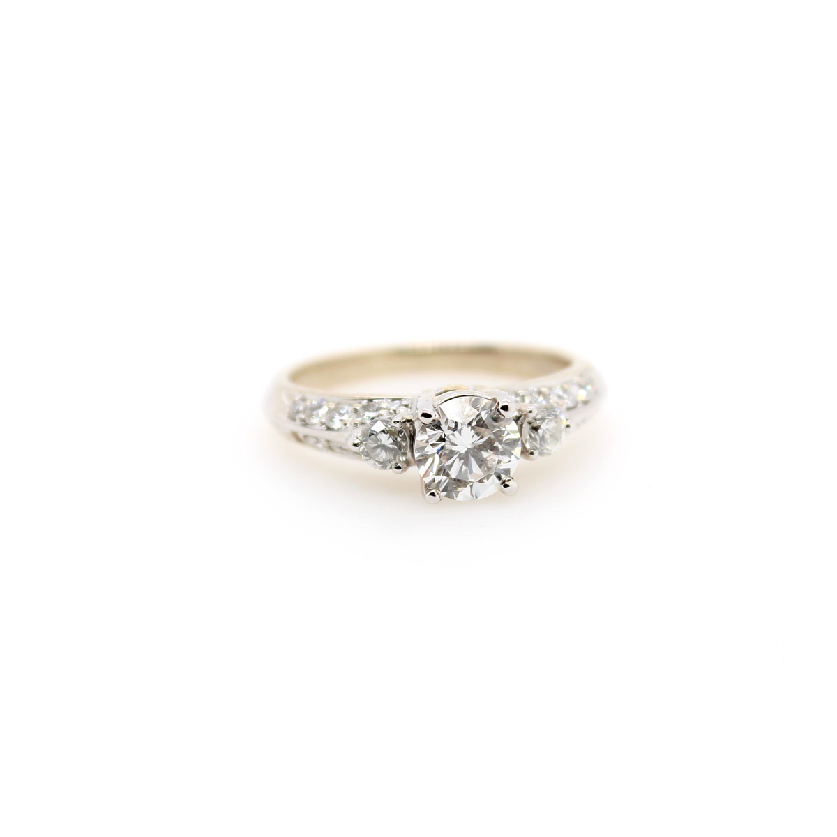 Vintage EGL Certified Diamond Bridal Ring