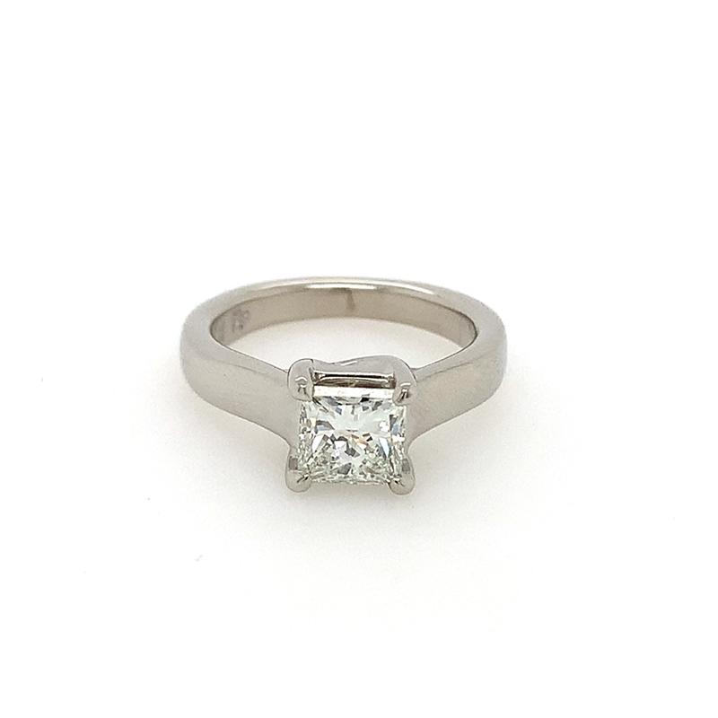Vintage Platinum GIA Certified Diamond Solitaire Ring