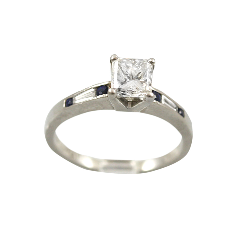 This Platinum Sapphire And Diamond Ring Is So Simple Yet So Elegant.