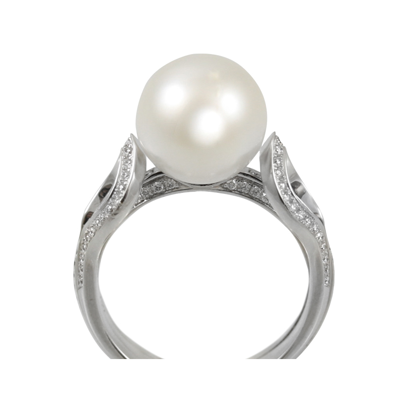 This Gorgeous And Elegant Mikimoto 18 Karat Diamond And Pearl Ring Is Very Versatile Being Perfect From Casual Day To Very Formal Events.