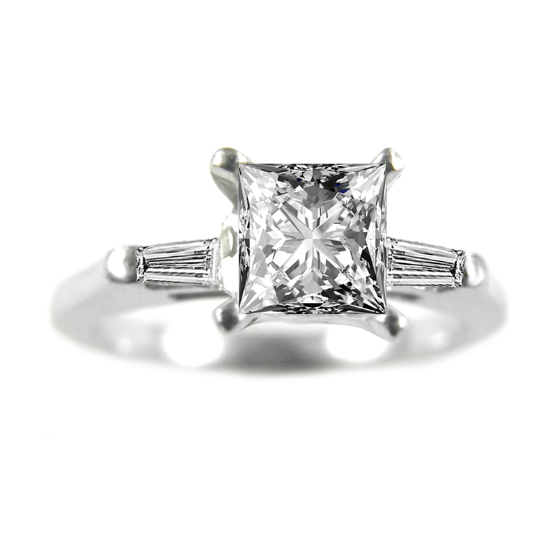 Estate platinum an diamond ring.