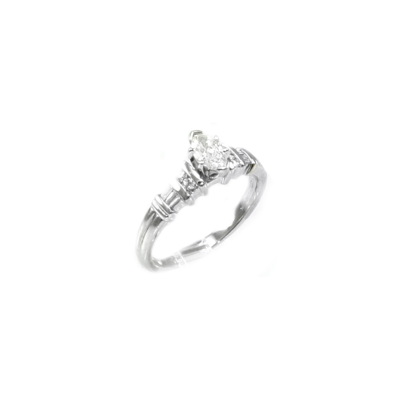 Vintage platinum and diamond ring.