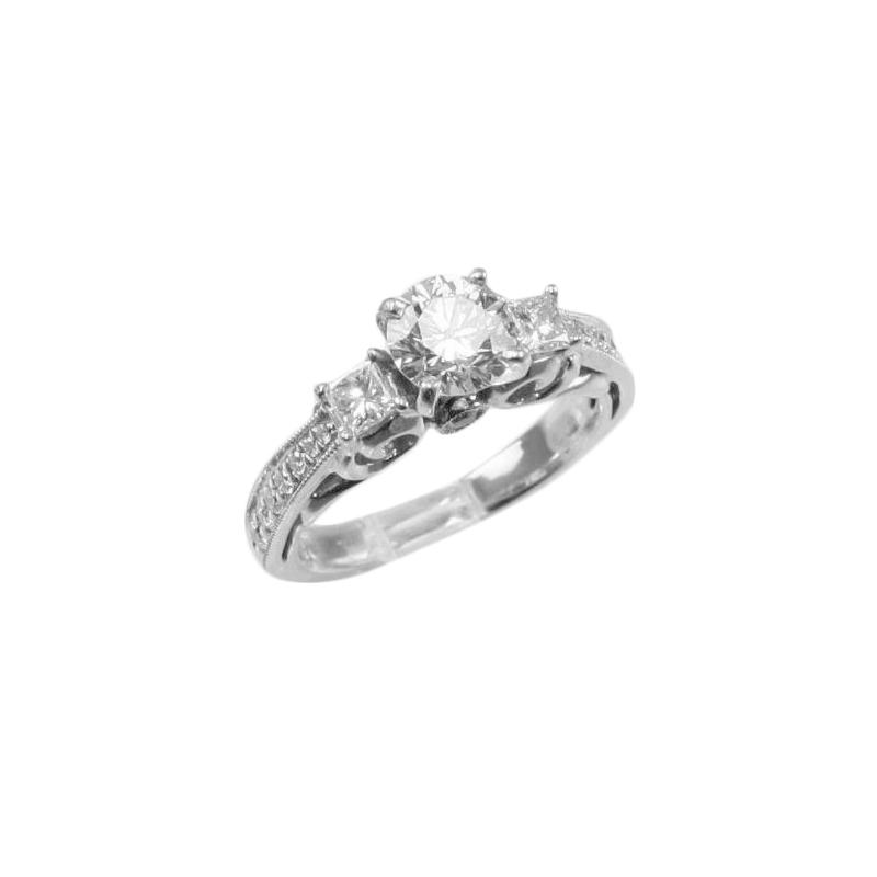 Estate 18 Karat white gold Scott Kay diamond ring.