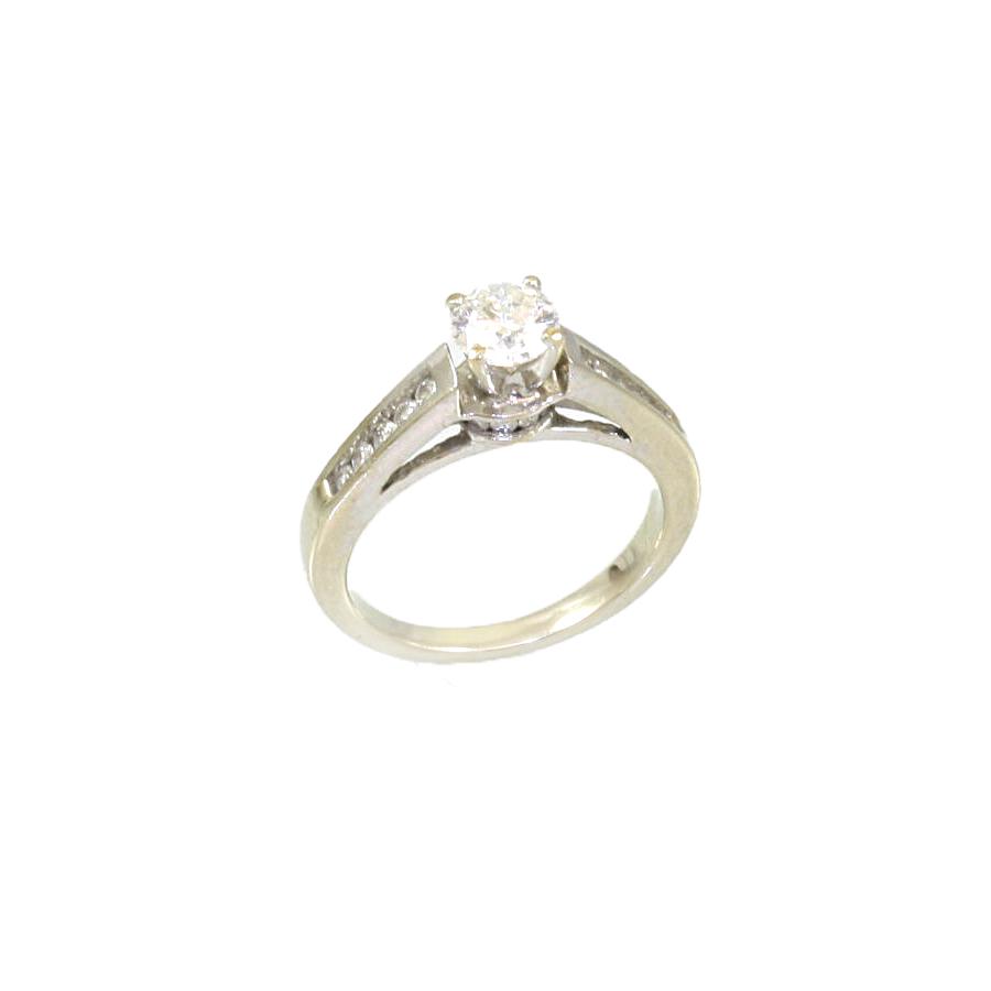 Vintage 14 Karat White Gold Diamond Ring