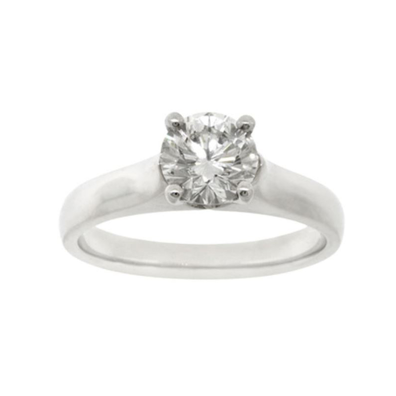 Vintage Platinum GIA Certified Solitaire Ring