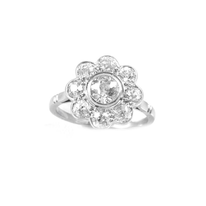 Vintage Platinum diamond ring.