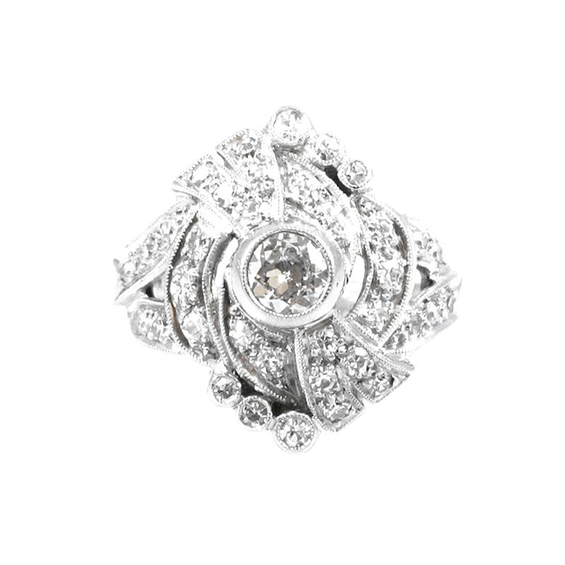 Estate Platinum and diamond ring.