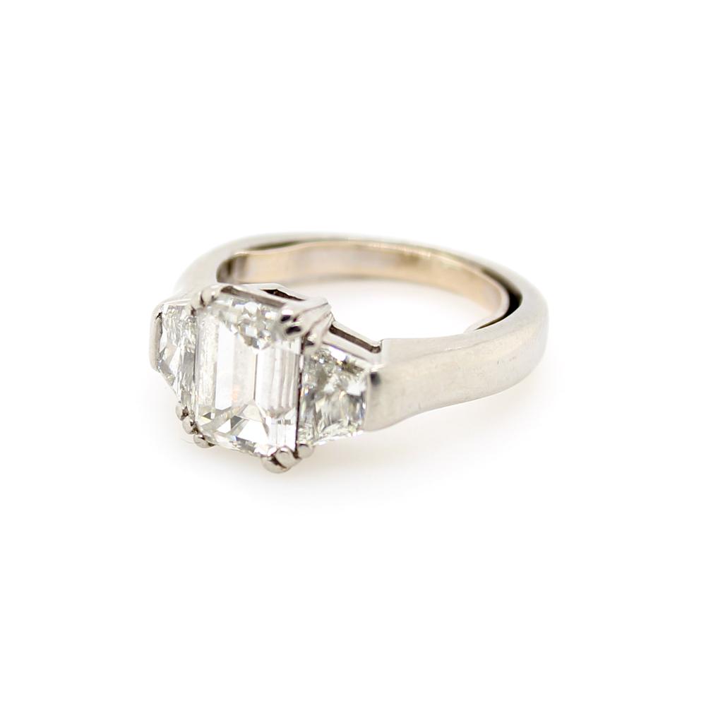 Vintage Platinum GIA Certified Diamond Ring