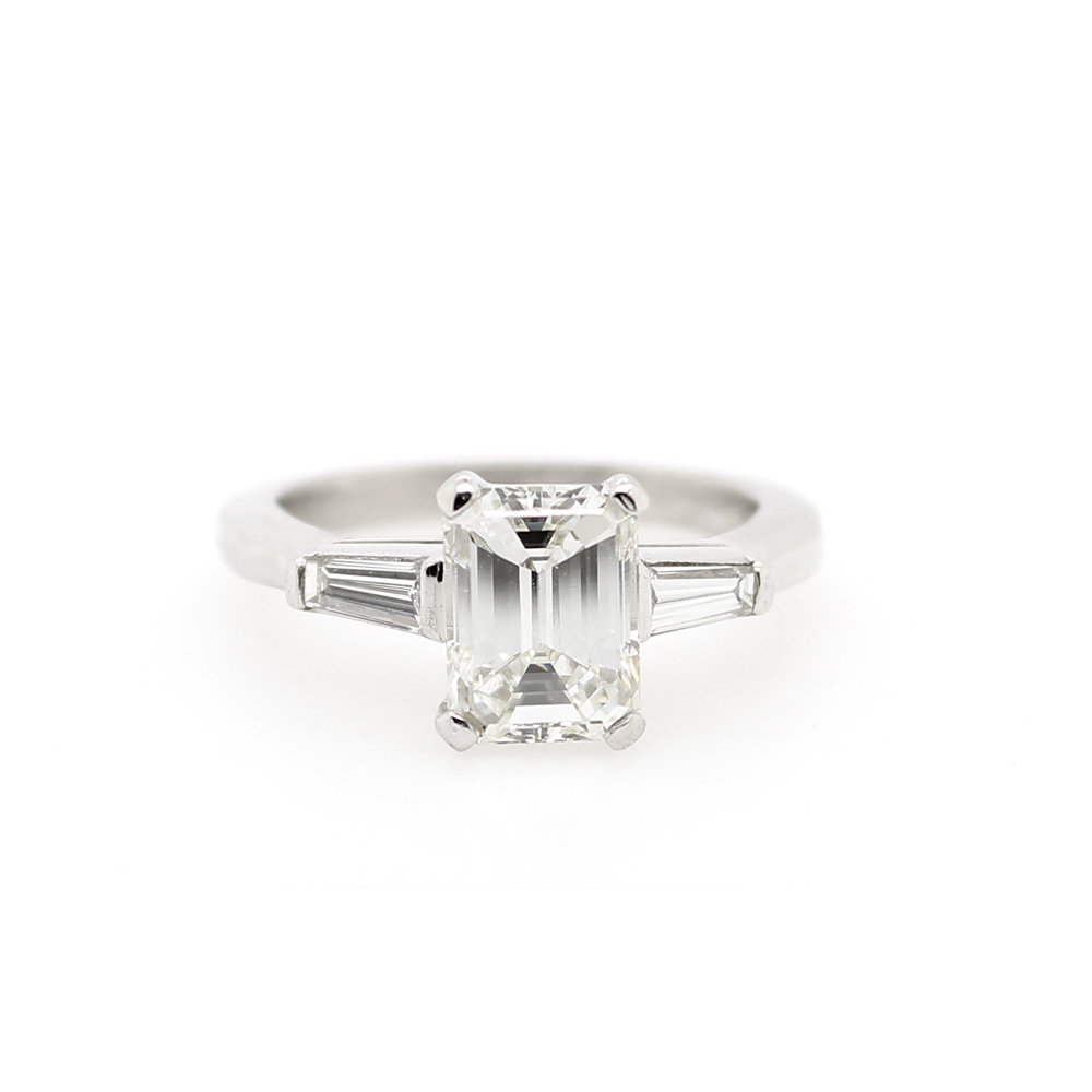 Estate Platinum GIA Certified Diamond Ring