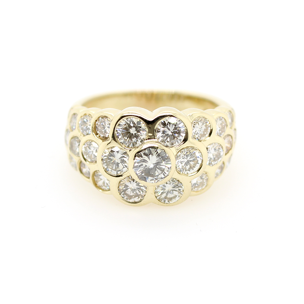 Estate 14 Karat Yellow Gold Diamond Ring