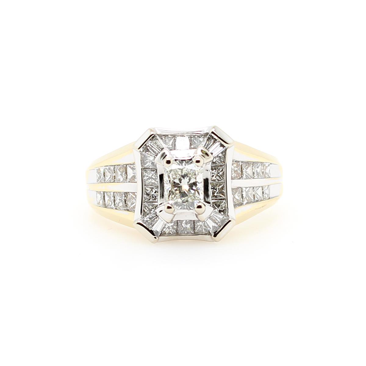Vintage 18 Karat Yellow Gold Diamond Fashion Ring