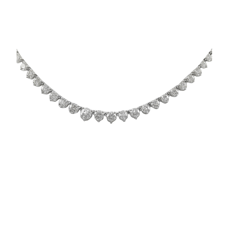 Vintage 18 Karat white gold and diamond necklace.