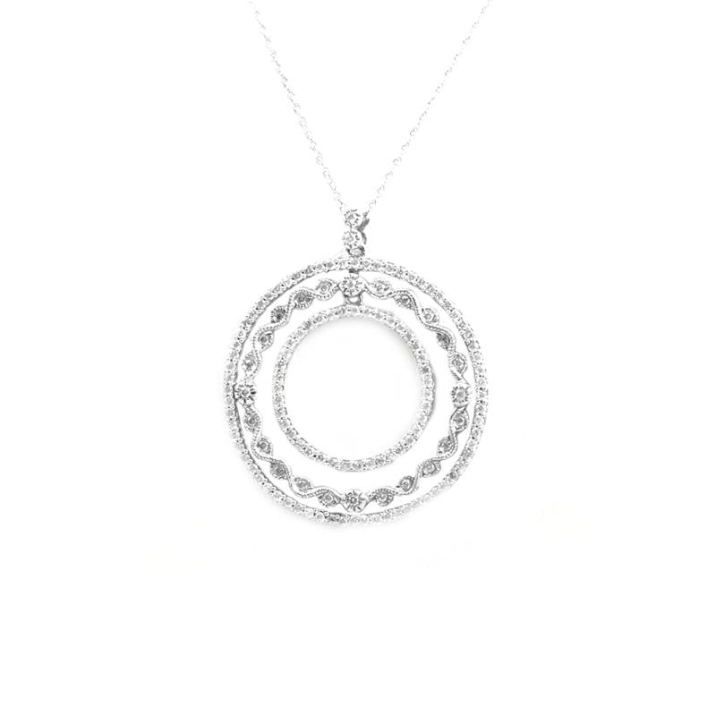 Vintage 14 Karat white gold and diamond pendant.