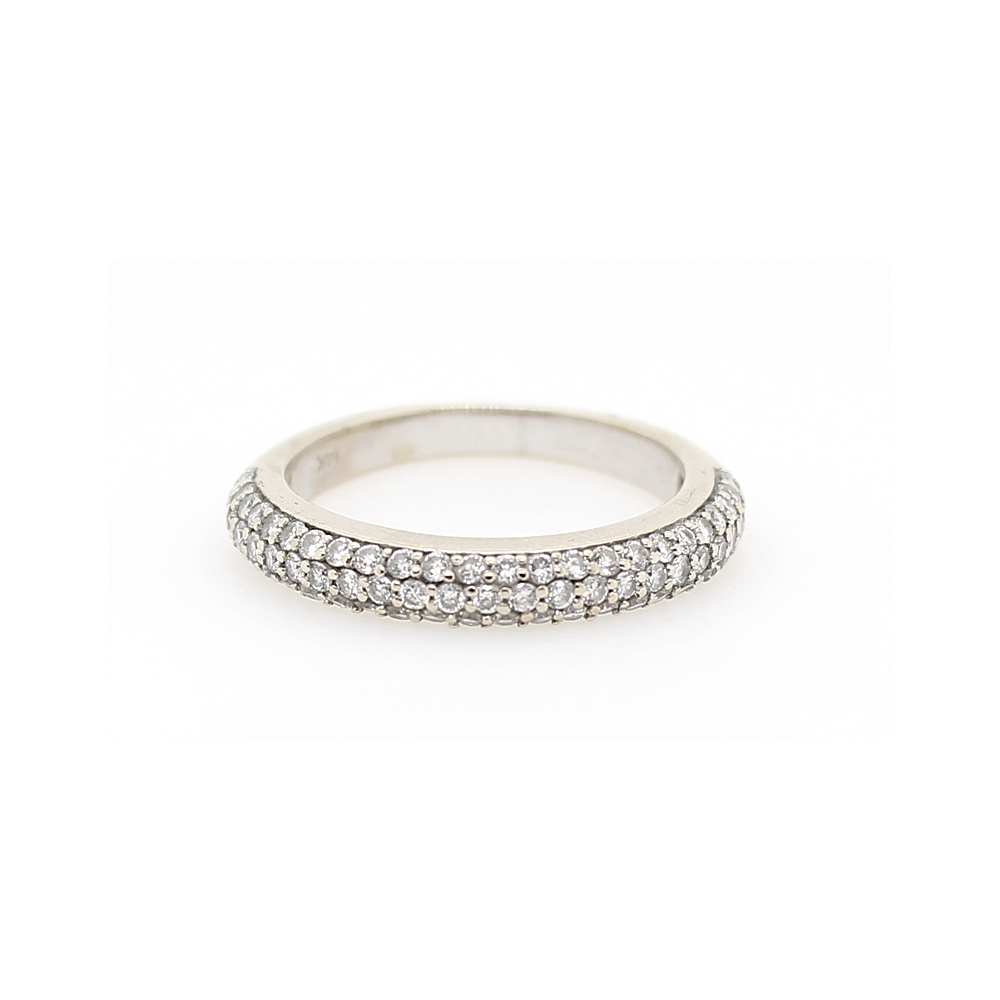 Estate 14 Karat White Gold Diamond Band