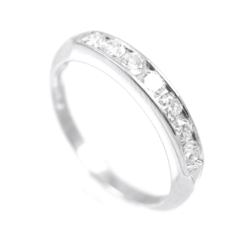Estate Platinum and diamond wedding band.