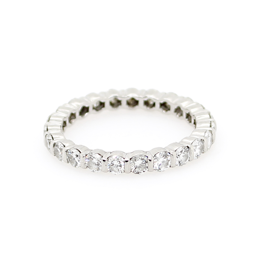 Vintage Platinum Diamond Eternity Band