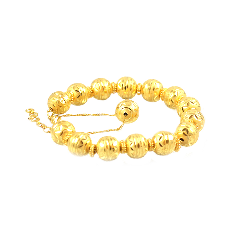 Estate 22 Karat Yellow Gold bead bracelet.