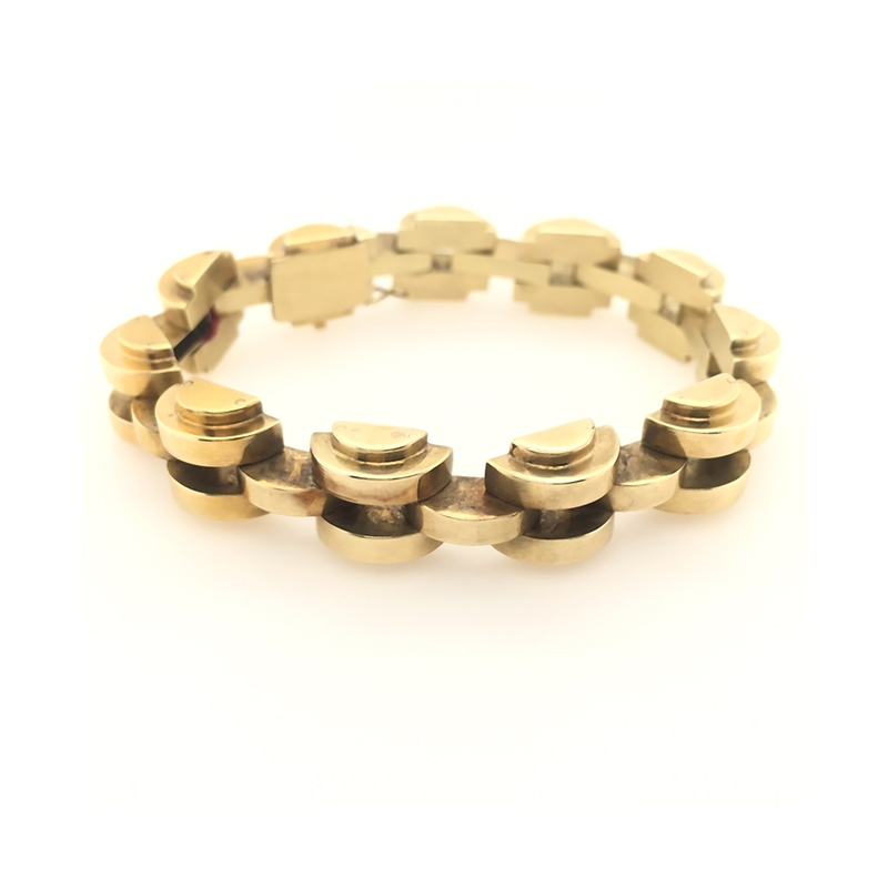 Estate 14 Karat yellow gold, art deco bracelet