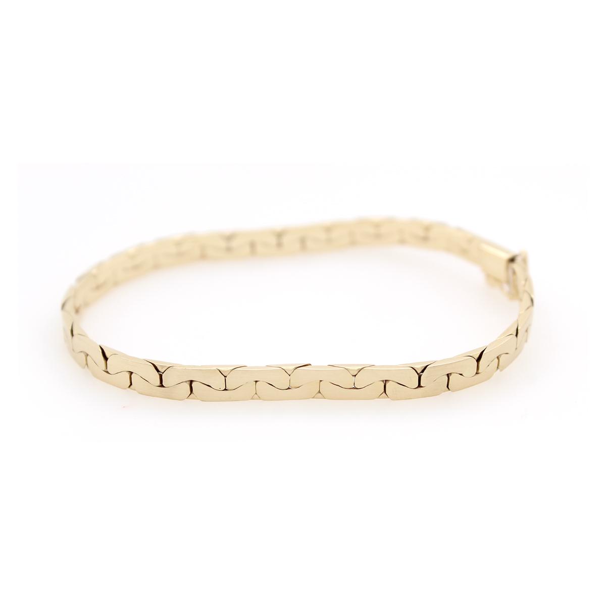 Vintage 14 Karat Yellow Gold Modified Cobra Link Bracelet