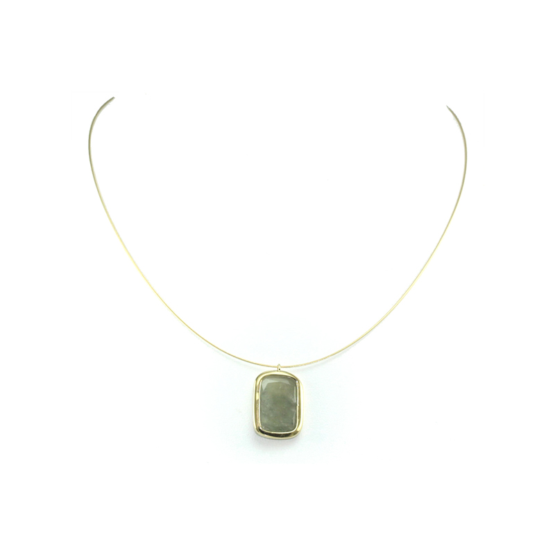 "Estate Yvel Ladies Natural Sapphire 17"" Wire Necklace"