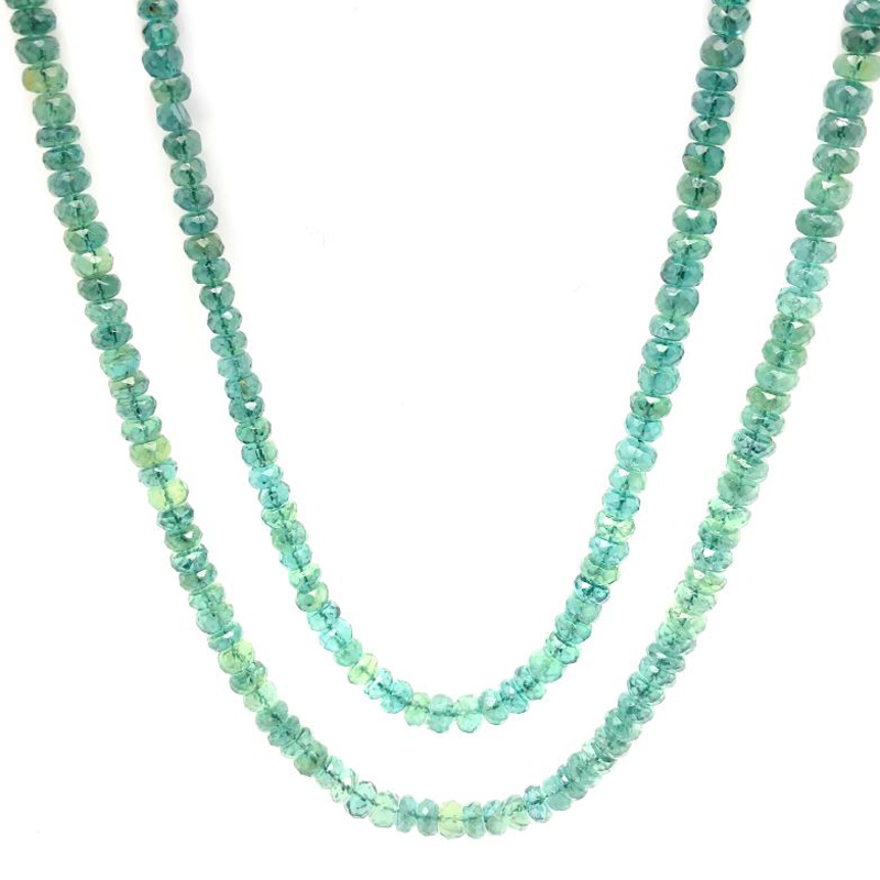 Vintage Chrome Diopside Two Row Necklace