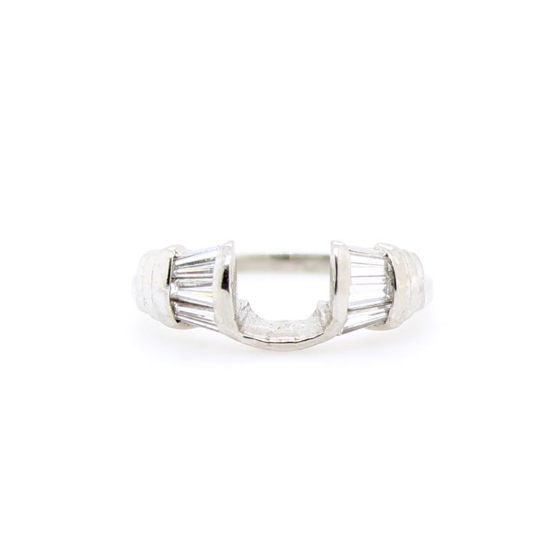 Vintage Platinum Sandberg & Sikorski Diamond Ring Wrap