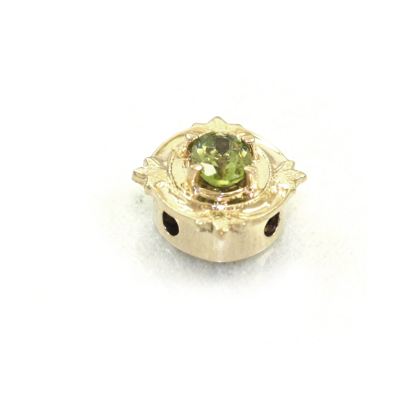 Estate 14 Karat Yellow Gold Peridot Slide