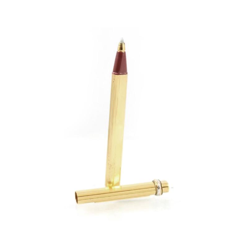Estate 18 Karat Gold Tone Cartier Vendome Trinity Pen