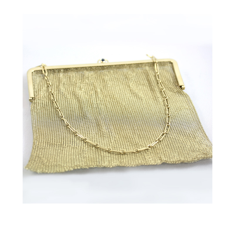 Estate antique gold mesh handbag
