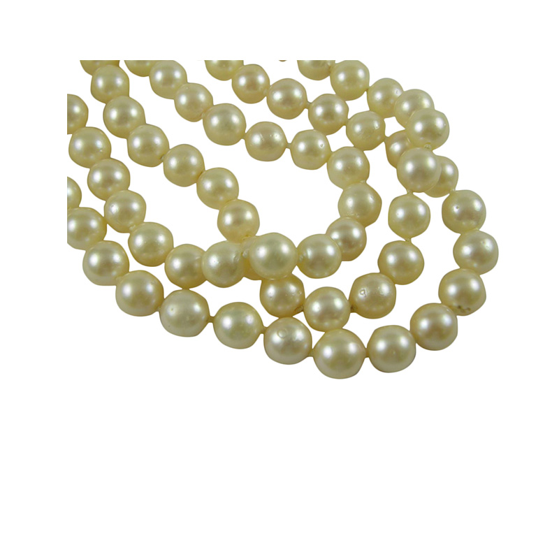 "Vintage 34"" endless cultured pearl necklace."