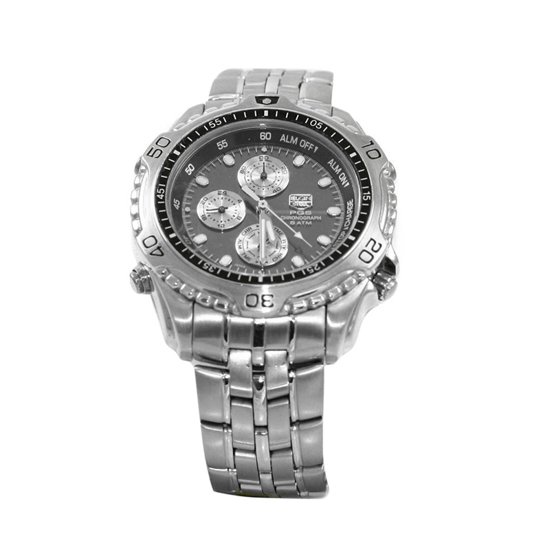 Estate Stainless Steel Elgin Chronograph watch.
