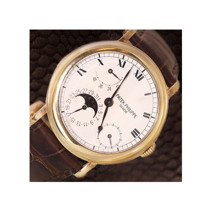 Patek Philippe 18 Karat Yellow Gold 36Mm Estate Watch From The Complications Series.