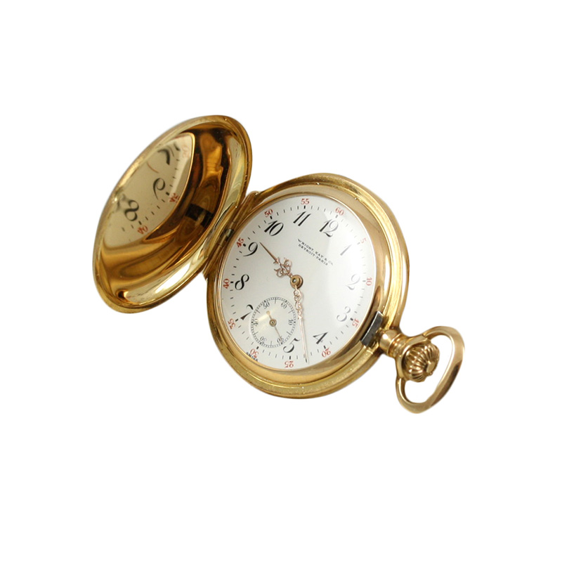 14 Karat Yellow Gold Wright & Kay Co Pocket Watch.