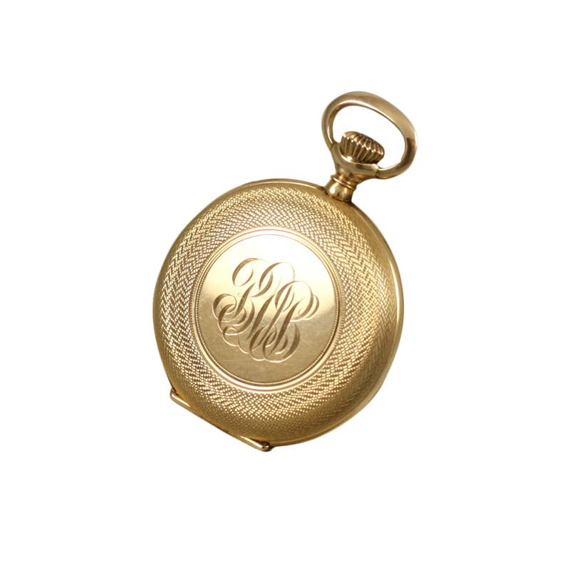 14 Karat Yellow Gold Wright & Kay Co Pocket Watch.