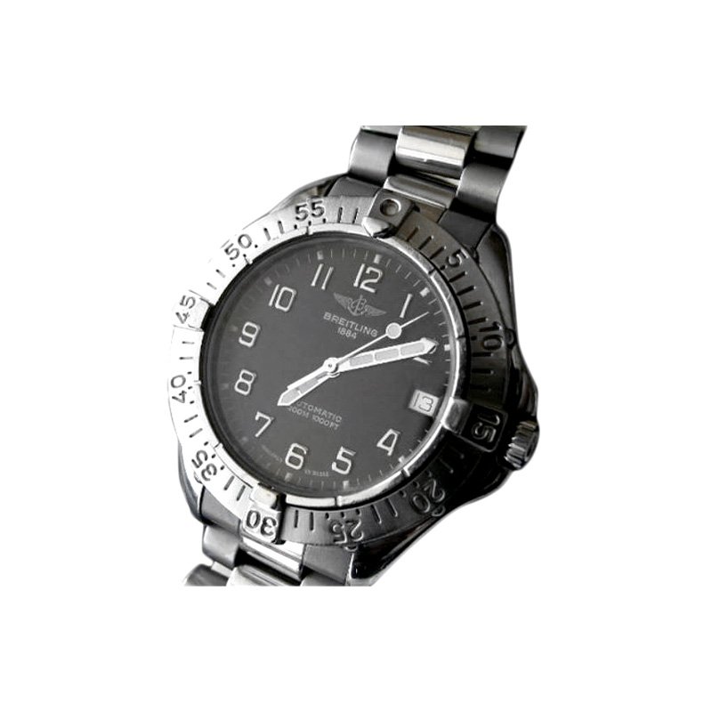 Estate Breitling Colt Automatic 38mm stainless steel watch.