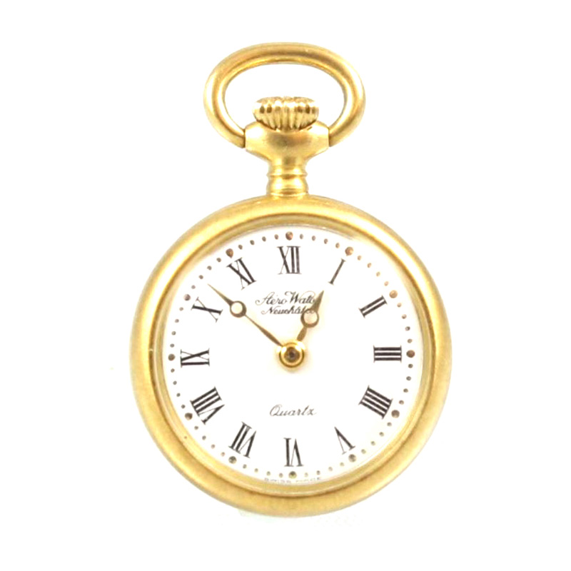 Estate 18 Karat yellow gold quartz pocket watch.