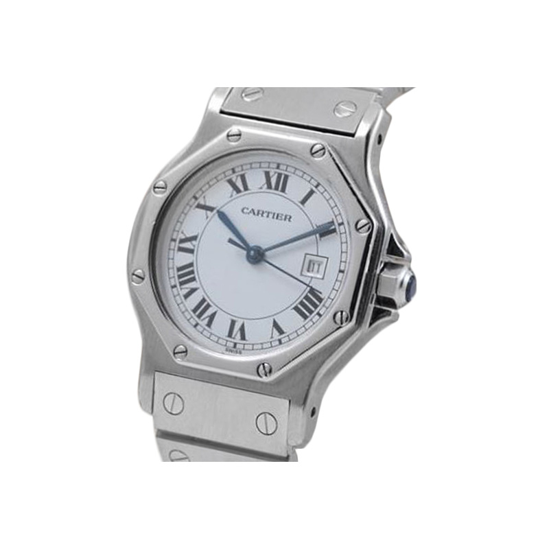 Estate stainless steel Cartier Santos 31mm watch.
