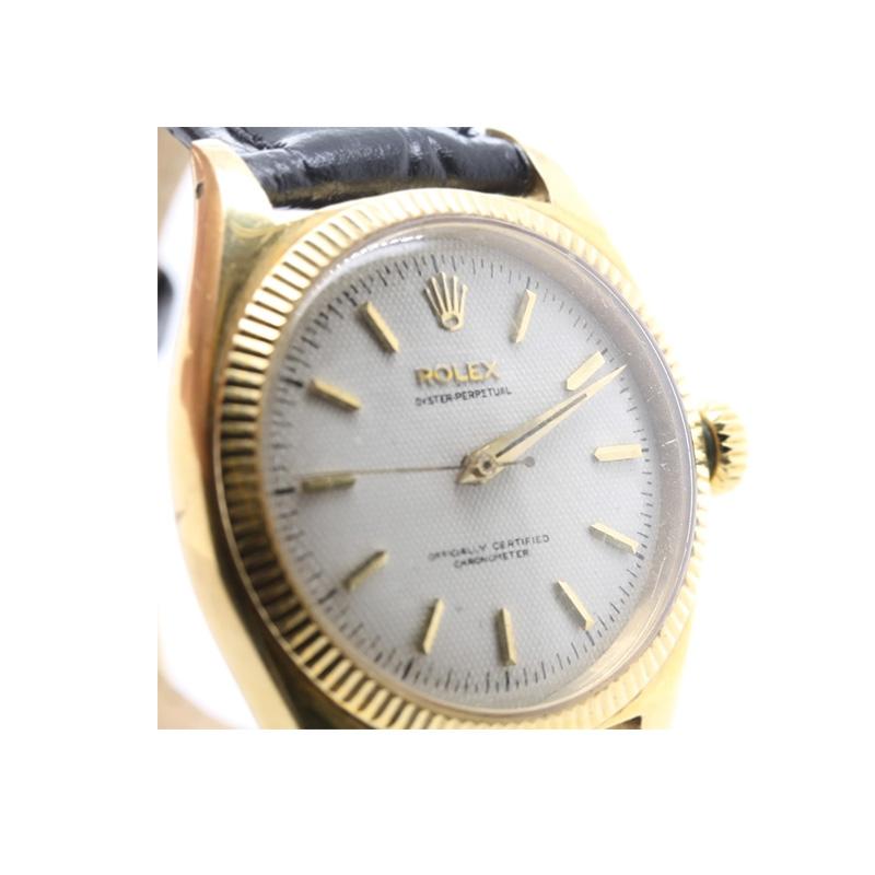 Estate Rolex 14 Karat yellow gold oyster perpetual watch
