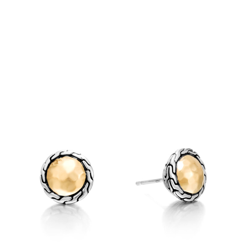John Hardy Classic Chain Round Stud Earrings