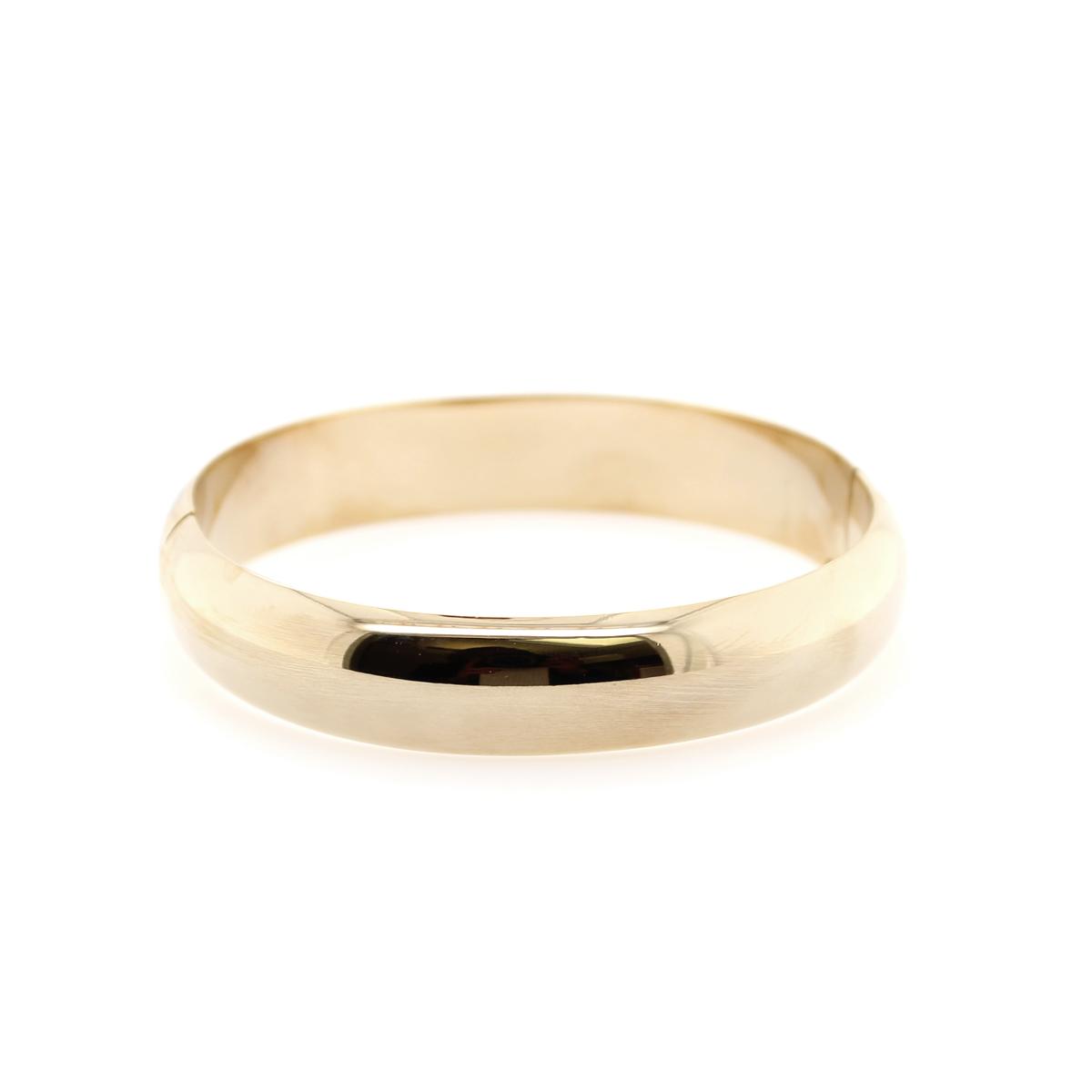 14 Karat Yellow Gold Filled 14mm Bangle Bracelet