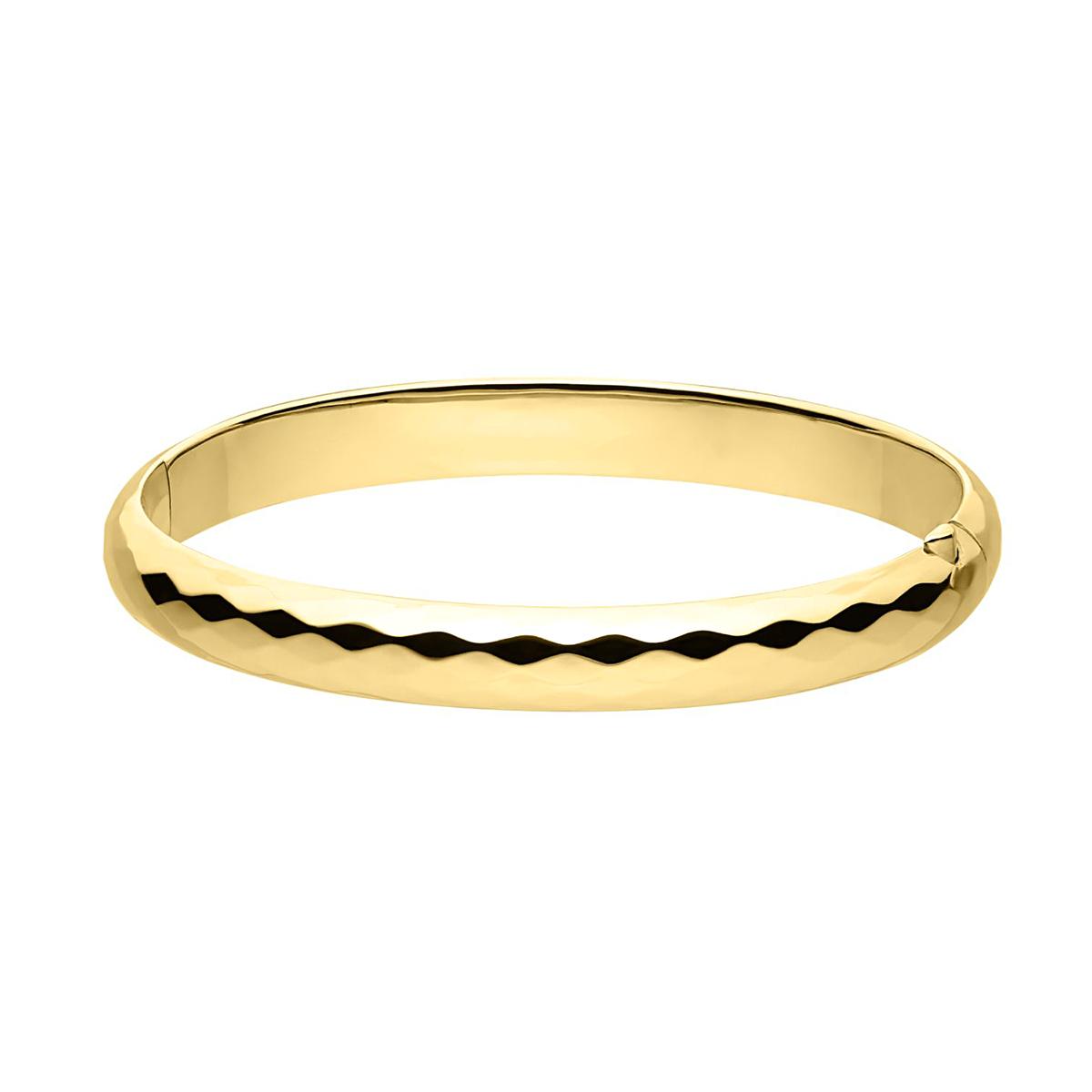 14 Karat Yellow Gold Filled Embossed Bangle Bracelet