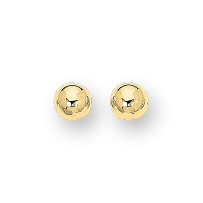 14 Karat Yellow Gold polished ball earrings