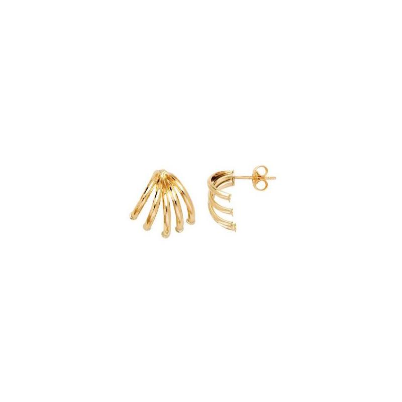 14 Karat yellow gold tube spread earring.