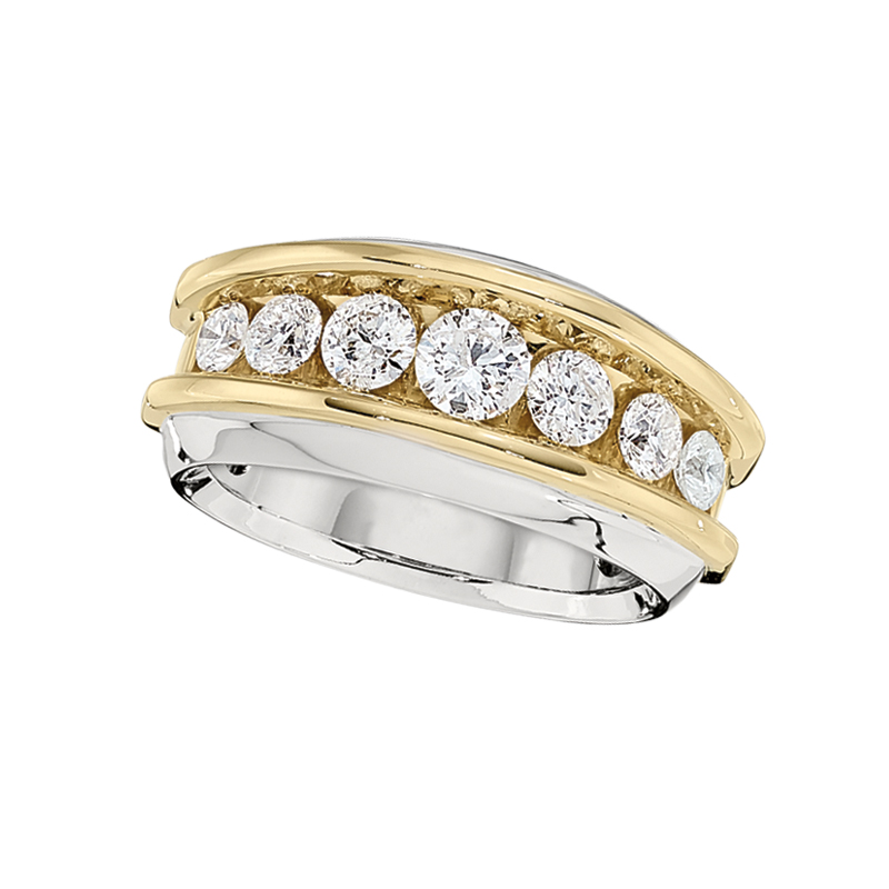 Shefi Diamonds 14 Karat White and Yellow Gold Diamond Ring (.5 Carat)