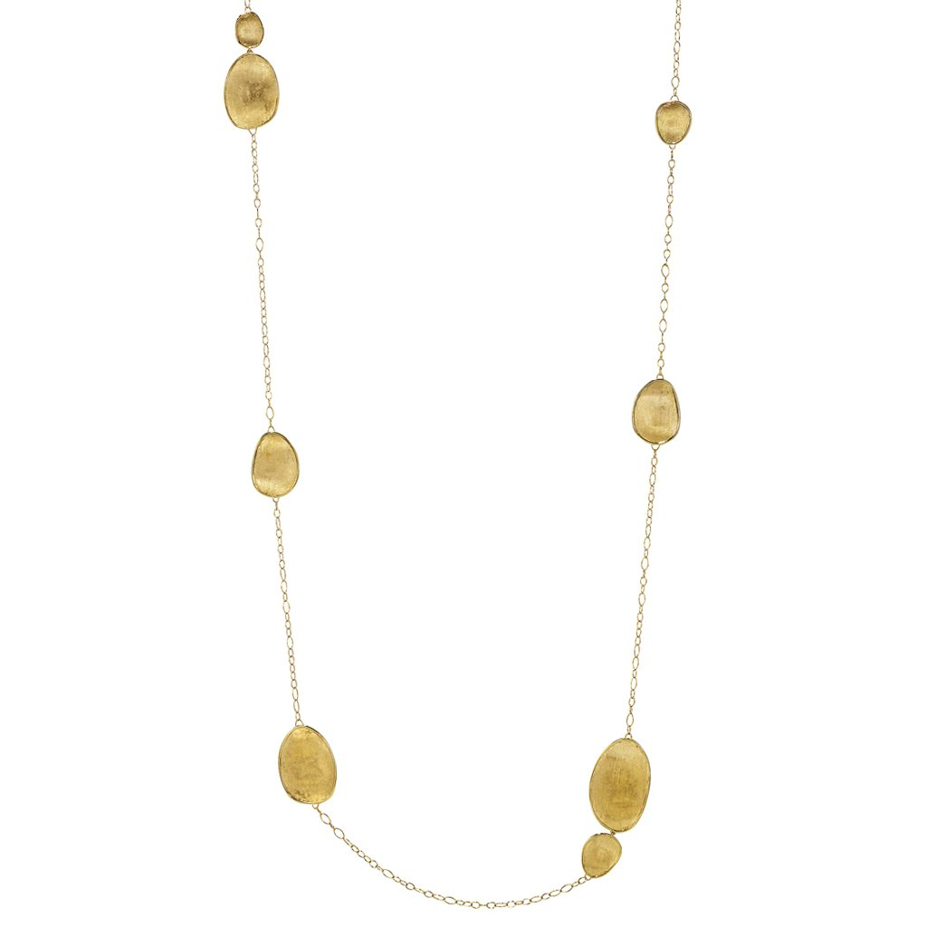 Marco Bicego 18 Kaart Yellow Gold Oval Disk Station Necklace